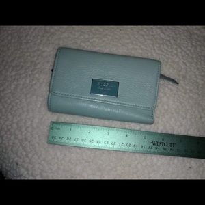 Fossil leather wallet, light teal